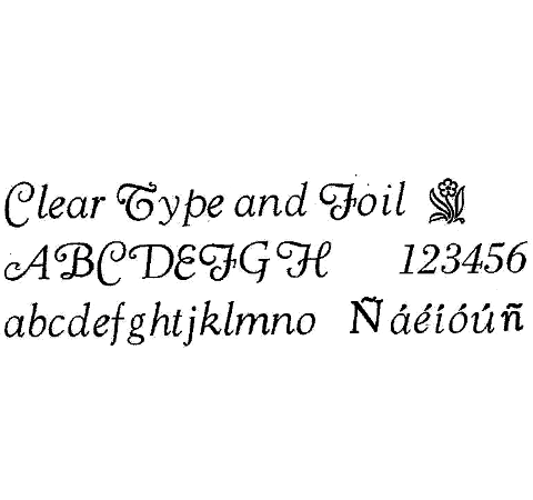 24pt. Goudy Cursive (Spanish Accents Available)