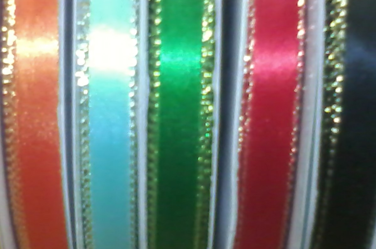 """Ribbon - 3/8"""" With Silver Edge 50yds Spool"""