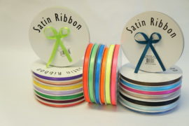 "Ribbon - 3/8"" With Plain Edge 100yds Spool"
