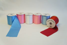 "4"" Plain Edge Satin Polyester Ribbon"