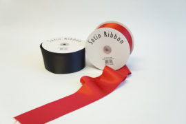 "3"" DOUBLE FACE PLAIN EDGE SATIN POLYESTER RIBBON"