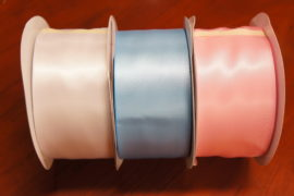 "2-1/2"" DOUBLE FACE PLAIN EDGE SATIN RIBBON"