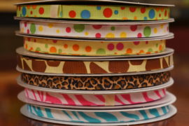 "3/8"" GROSGRAIN WITH PRINT"