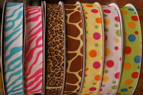 5/8 Grosgrain with Print