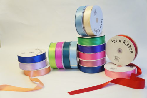 "1-12"" Plain Edge Satin Ribbon"