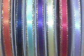 "1/4"" Ribbon With Gold Edge 50yds spool"