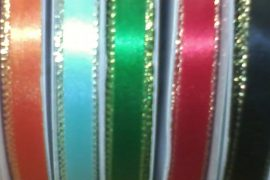 "Ribbon - 3/8"" With Silver Edge 50yds Spool"