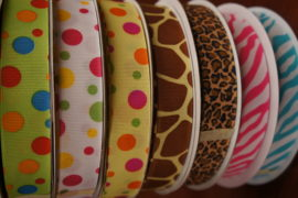 "7/8"" Grosgrain with Print"